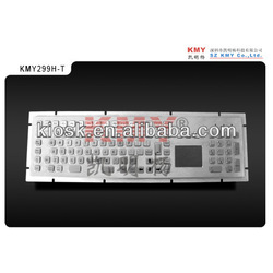 medical metal keyboard with touchpad and numeric pad