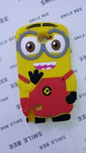 For galaxy 9220 N7000 case Despicable Me soft rubber silicone 3D minion cell phone cases covers to samsung 9220 N7000