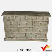 green multi drawers vtg shabby chic bedroom cabinets