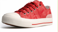 Fashion Women's Red Canvas Sneakers