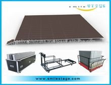 mobile stage truck and trailer for easy transportation