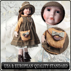 Classic design of the Victorian period style porcelain doll!