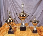 Souvenir polyresin football trophy figurines