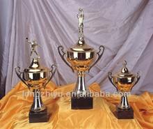 Souvenir polyresin football trophy figurines