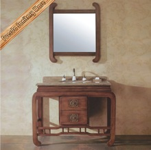 rustic usa style cane bathroom cabinet with marble top