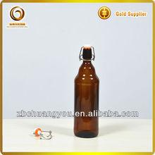 amber glass flip top beer bottle 1l (R-B227)