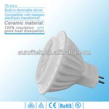 70lm/w led indoor lighting cree chip led driver 12v dimmable mr16 led