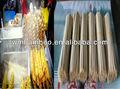 Batata bambu varas uso da máquina