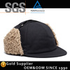 Fashion New design 5 panel cap wool winter snapback with ear