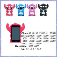 Cartoon 3d Stitch Design Silicone Cover for Blackberry Curve 9320 Case