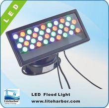 outdoor 6063 aluminum ip65 36w rectangle w/36pcs 1w LEDs rgb color changing outdoor spot light
