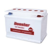 Dry Charged German Lead Vehicle Battery DIN75 China Manufacturer 12V White Case