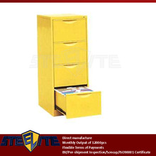 Diy kids glossy maize four tier narrow drawer toy chest closets