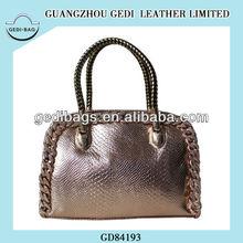 2014 Rython Snake Metal Leather Weave Purse Tote Bag Woman Handbag Blouse