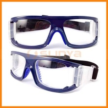 Unisex Rectangle Side Vents Sports Myopia Eyewear for Basketball / Football Glasses Bule PC Lens