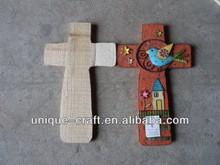 Cheerful Garden Cross Unfinished Wooden Cross