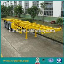 CIMC 20ft or 40ft skeleton trailer chassis for sale, skeleton semi trailer for trucks