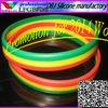 2014 World Cup:Ethiopia national flag stripes cheap customized silicone bracelet/wristband(LFGB/FDA)