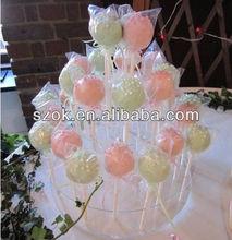 beautiful multi-tiers acrylic cake pop display stand /acrylic cake pop holder