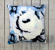 digital printed floral plush throw cushion