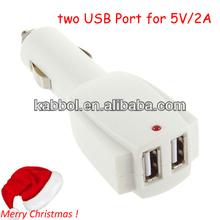 Dual USB Car Power Adapter 5V 2.1A for Nokia Lumia 920, Samsung Galaxy Note 2