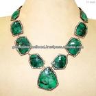Collar Vintage con Esmeraldas Collar de Piedras Pr