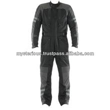 Black Grey 1 Pc Cordura Motorcycle Racing Suit