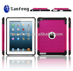 Stylish UV coating rhinestone case for ipad 2/3/4 tablet;heavy duty diamond case for ipad 4