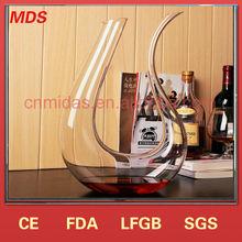 Unique design beautiful glass decanter