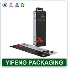 Custom foldable bottom self locking portable corrugated wine case box
