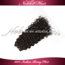 cheap curly indian remy hair weaving extensions natural color medium curl hair weft