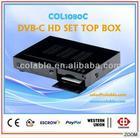 digital tv broadcasting equipment h.264 decoder,1080P HD DVB-C SET TOP BOX supports conax CAS, mpeg4 hdmi TV box dvb-c COL1080C