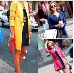 2014 New Fashion Slim Women Wool overcoat Ladies Sweet Winter Jackets Long Sleeve Outerwear Long ...