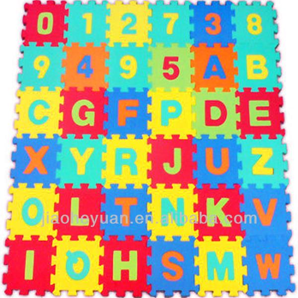 36 Pcs Alphabet Numbers Eva Tapis De Sol B B De Puzzle Tapis De Mousse Souple Puzzle Produits