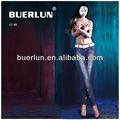 nova moda 5 bolsos chino calças das mulheres