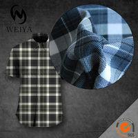 cotton/polyester check shirting fabric