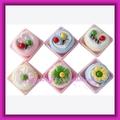 Flor colorida e um sorriso projeto em caixa de PVC bolo toalha