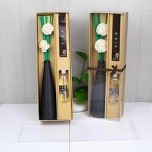 sola flower diffuser air aroma,elegant black vase diffuser