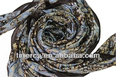 2013 hot sell paisley customer design wear indian shawl