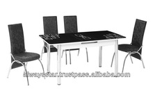 M-15 Extendable modern Black kitchen furniture , room set