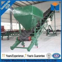 Belt conveyor pellet transport system for grain