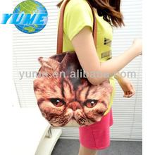 Newest Cat Face 3D Shoulder Bags/ Fashion Women 3D Animal Knapsack