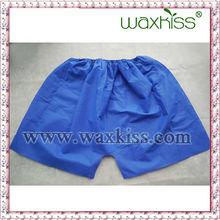 Cheap plain white cotton mens underwear boxer briefs(disposable)