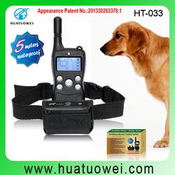 remote control waterproof delectronic anti-bark dog training shock collar HT-033