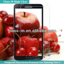 Factory Price High Clear Tempered Glass Cover For Samsung Galaxy Note 3