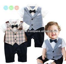 Baby's romper, baby's 2 colours romper, boy's short sleeves romper, MR-393