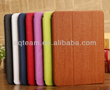 Stand Wooden Pattern Leather Case for IPad Air