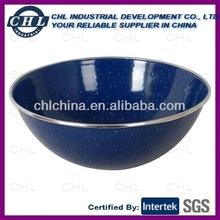 Blue color enamel bowl