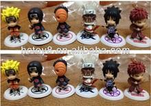 Wholesale 8cm japanese anime Naruto cute 6pcs a set pvc action figure