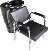 professional salon beauty fiber glass black shampoo bowl adjustable chair
